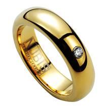 NWF1051 Dámský snubní prsten se zirkonem, šíře 5 mm