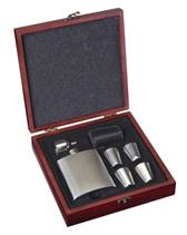 Ocelová kapesní lahev - placatka 200ml dárkové balení