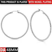 Ocelové náušnice - kruhy 48 mm