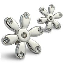 Ocelové náušnice - kytičky
