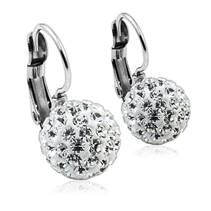 Ocelové náušnice koule 10 mm Crystals from Swarovski® Crystal