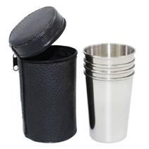 Ocelové pohárky kalíšky 180 ml - panáky 4 ks
