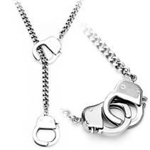 Ocelový náhrdelník pouta