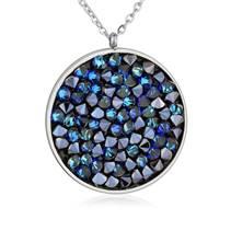 Ocelový náhrdelník s krystaly Crystals from Swarovski®, BLUELIZED