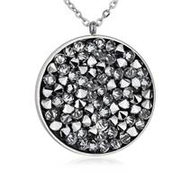 Ocelový náhrdelník s krystaly Crystals from Swarovski®, CRYSTAL CAL