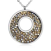 Ocelový náhrdelník s krystaly Crystals from Swarovski®, GOLDEN SHADOW