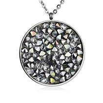 Ocelový náhrdelník s krystaly Crystals from Swarovski®, LIGHT CHROME