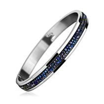 Ocelový náramek s krystaly Crystals from Swarovski® BERMUDA BLUE