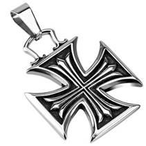 Ocelový přívěšek - maltézský kříž