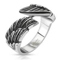 Ocelový prsten křídla