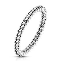 Ocelový prsten kroucený