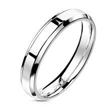 Ocelový prsten lesklý, šíře 4 mm
