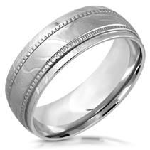 Ocelový prsten lesklý, šíře 8 mm,