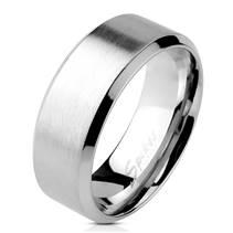 Ocelový prsten matný, šíře 8 mm