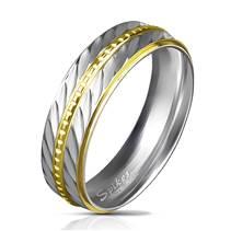 Ocelový prsten šíře 6 mm