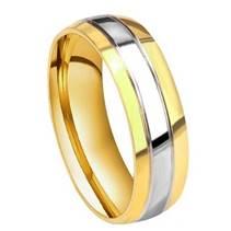 Ocelový prsten, šíře 6 mm, vel. 62