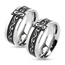 OPR0006 Ocelové snubní prsteny - pár