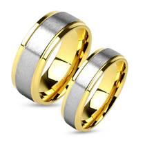 OPR0009 Ocelové snubní prsteny - pár
