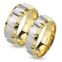 OPR0010 Ocelové snubní prsteny - pár