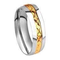 OPR0034 Dámský ocelový prsten, šíře 6 mm