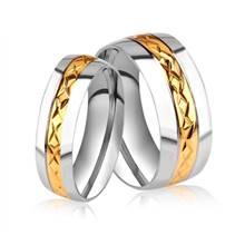 OPR0034 Ocelové snubní prsteny - pár