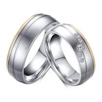 OPR0042 Ocelové snubní prsteny - pár
