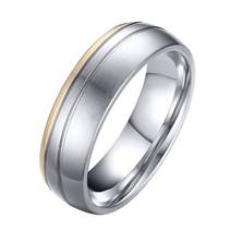 OPR0042 Pánský ocelový snubní prsten