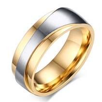 OPR0045 Pánský ocelový prsten se zirkony, šíře 7,5 mm