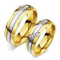 OPR0055-Zr Ocelové snubní prsteny - pár