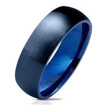 OPR0072 Dámský modrý ocelový prsten
