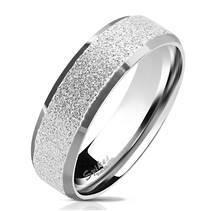 OPR0077 Pánský ocelový prsten pískovný