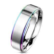 OPR0101 Pánský snubní ocelový prsten