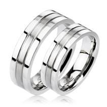 OPR1406 Snubní prsteny ocel - pár 6mm