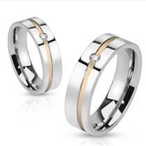 OPR1475 Snubní prsteny ocel - pár