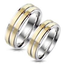 OPR1769 Snubní prsteny ocel - pár