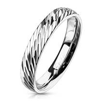 OPR1832 Dámský ocelový snubní prsten