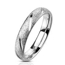 OPR1835 Dámský ocelový snubní prsten