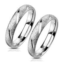 OPR1835 Ocelové snubní prsteny  - pár