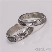 Pánský kovaný prsten Damasteel Luna