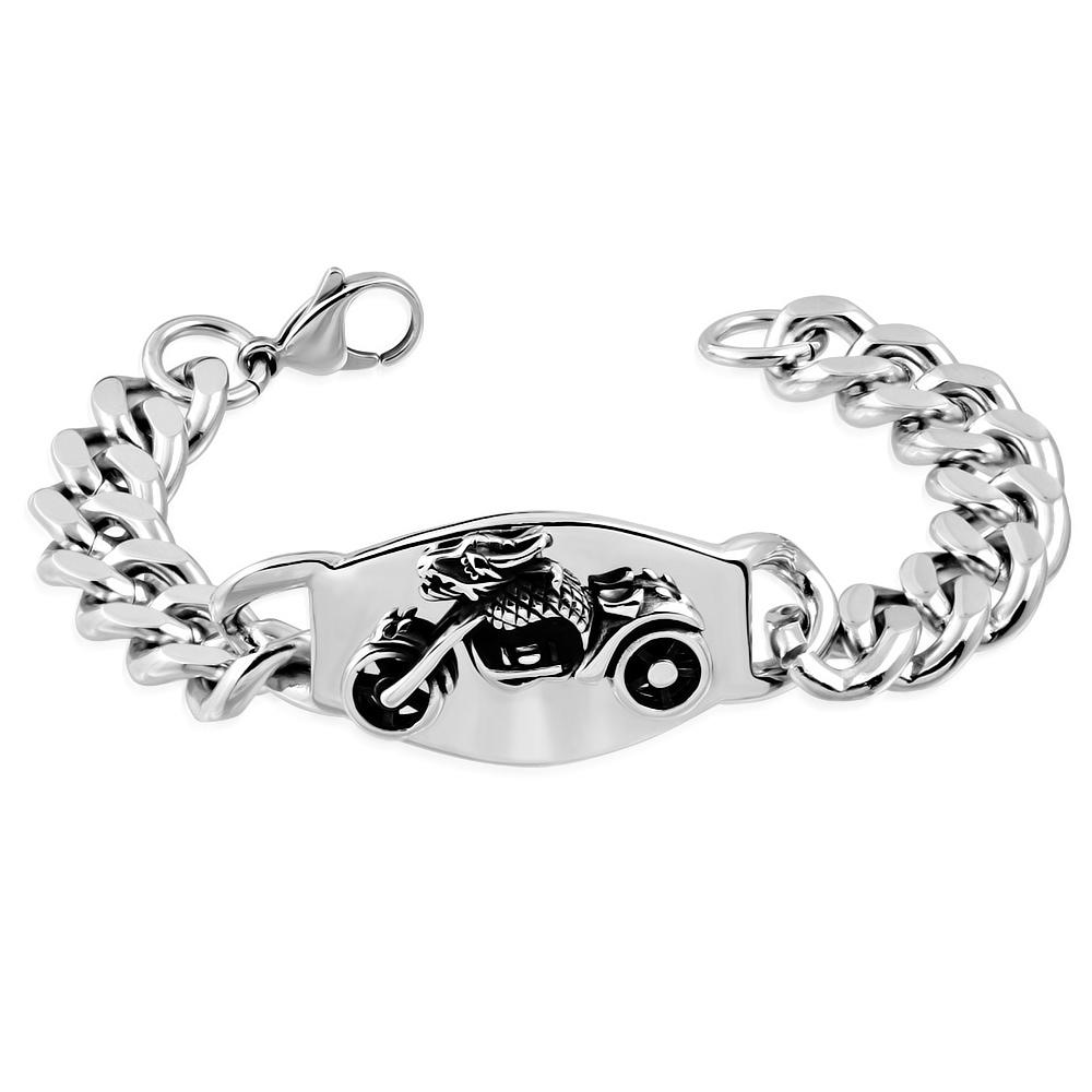 7cb5c7940 Pánský ocelový náramek s motorkou | Šperky4U.eu
