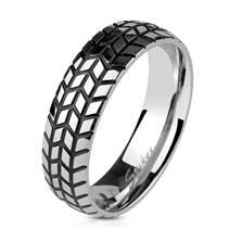 Pánský ocelový prsten - pneumatika