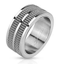 Pánský ocelový prsten