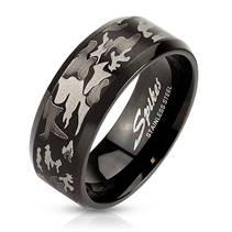 Pánský ocelový prsten camouflage