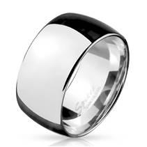 Pánský ocelový prsten šíře 10 mm