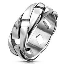 Pánský ocelový prsten, vel. 65