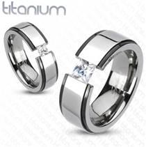 Pánský prsten titan, šíře 8 mm, vel. 70