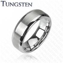 Pánský prsten wolfram, šíře 8 mm, vel. 67