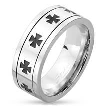 Pánský rotační antistresový prsten - maltézský kříž