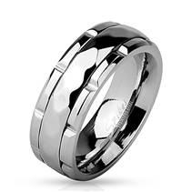 Pánský rotační ocelový prsten