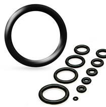 Piercing - náhradní černá gumička na plug
